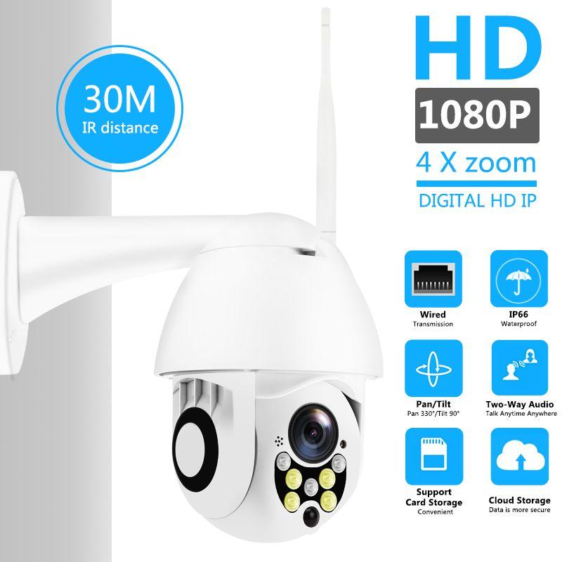 Caméra IP sans fil Wifi 1080 P PTZ caméra de sécurité dôme de vitesse extérieure panoramique inclinaison 5X Zoom numérique réseau CCTV Surveillance