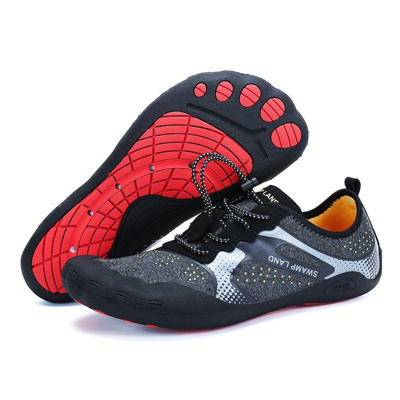 Chaussures été eau femme plage chaussons en amont pieds nus chaussures hommes Aqua chaussures natation chaussettes Wading sandales Tenis Masculino