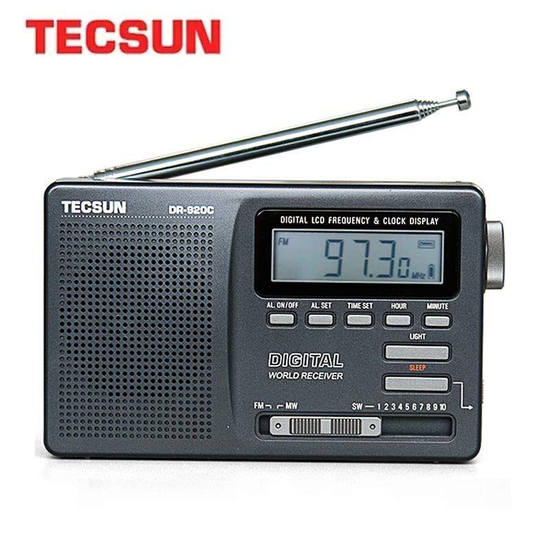 TECSUN DR-920C affichage numérique de Radio Fm FM/MW/SW Radio portative multibande FM: 76-108 MHz/MW: 525-1610 kHz/SW: Radio 5.95-21.85MHz