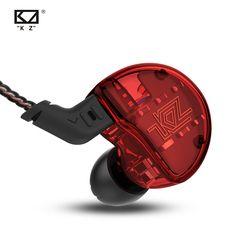 KZ ZS10 Headphone 10 Unit Earphone 4BA + 1DD Dinamis Armature Earbud HI FI Bass Headset Noise Cancelling In-Ear Monitor hybrid