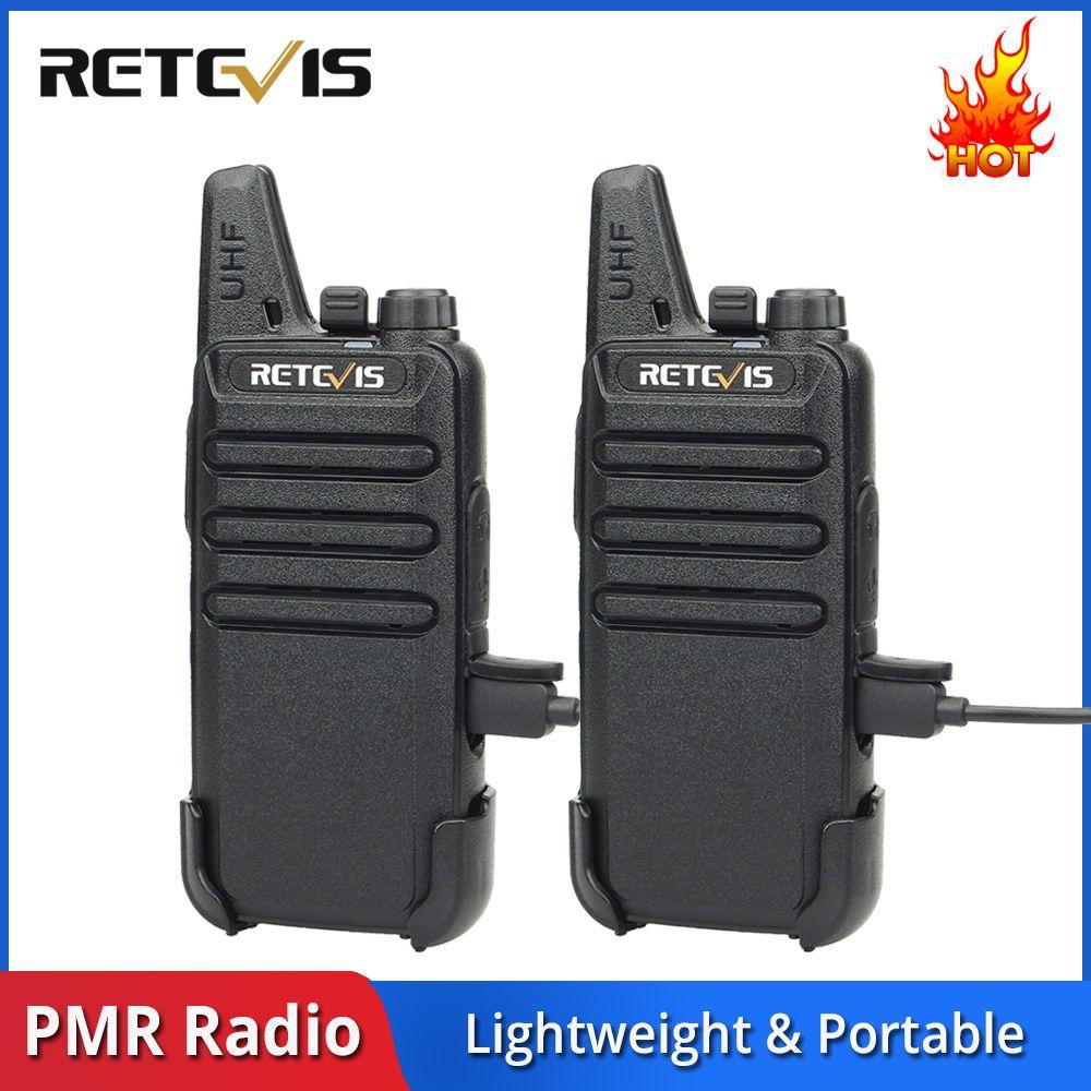 2 pièces RETEVIS RT22 RT622 Talkie-walkie Mini PMR Radio PMR446 FRS VOX USB Recharge Pratique Radio Bidirectionnelle Communicateur Woki Toki