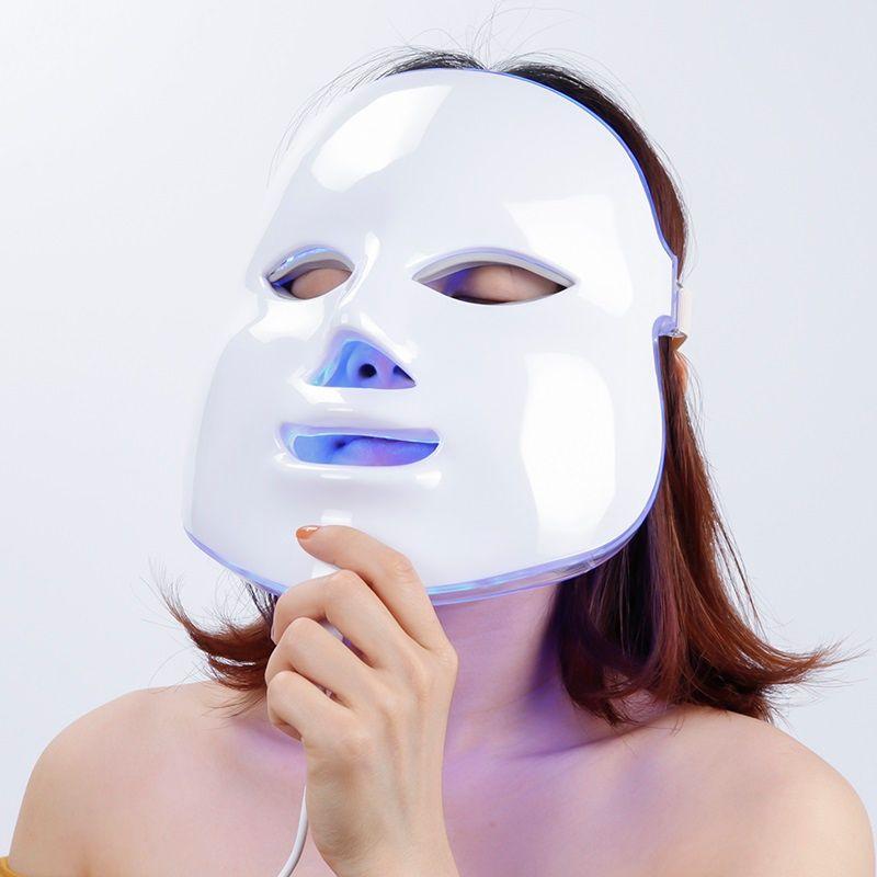 LED du visage masque de beauté élimination des rides dispositif électrique PDT Photon peau rajeunissant Machine de beauté thérapie Anti-âge