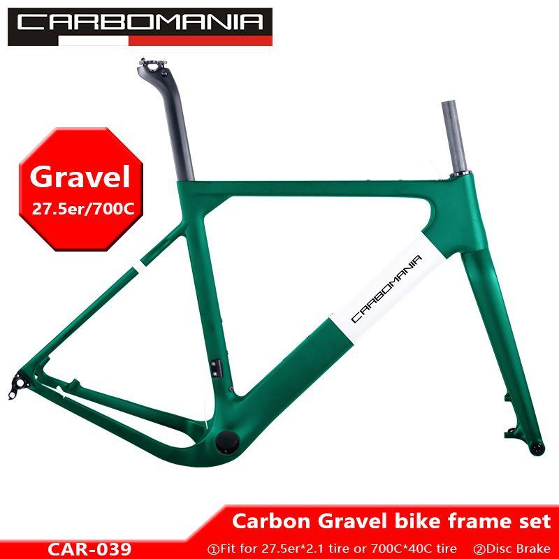2019 Carbon road rahmen 27.5er/700c kies fahrrad rahmen mtb carbon Scheiben Bremse Cyclocross fahrrad rahmen set 650b thru achse 12*142mm