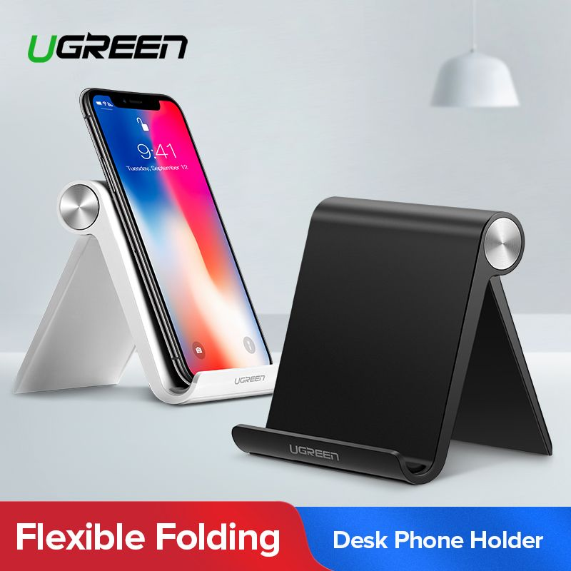 Ugreen Phone Holder Foldable Cellphone Support Stand for iPhone X Tablet Samsung S10 Adjustable Mobile Smartphone Holder Stand