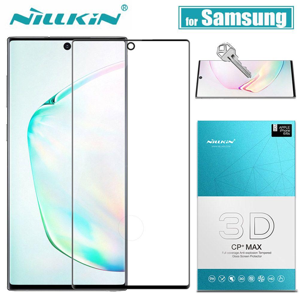 Pour Samsung Galaxy Note 10 9 8 S10 S9 S8 Plus protecteur d'écran en verre Nillkin 3D couvercle de colle complet verre trempé pour Samsung S10E