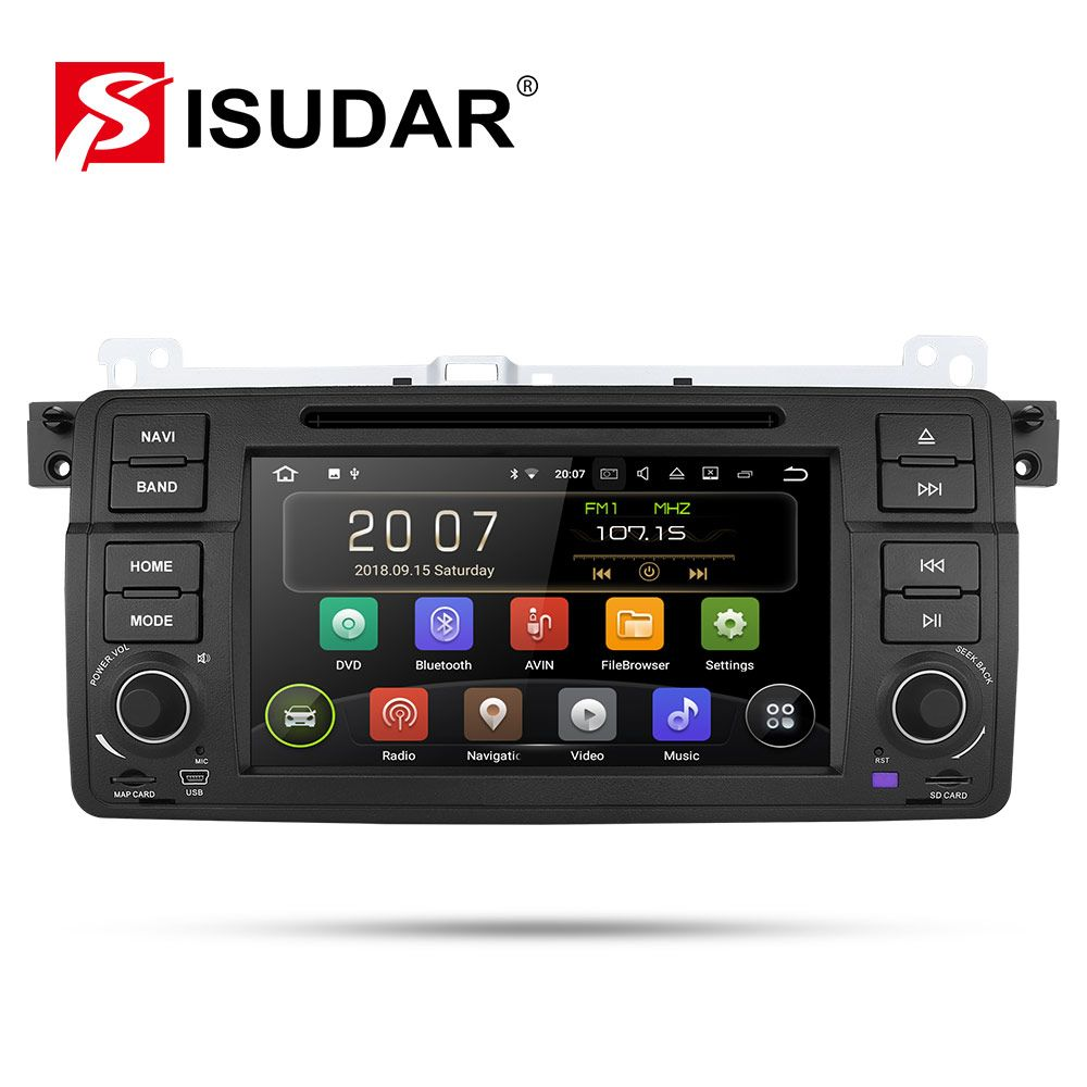 Isudar Auto Multimedia Player Android 9 1 Din DVD Player Für BMW/E46/M3/MG/ZT/ rover 75/320/318/325 Quad Core 2GB 16GB Radio FM