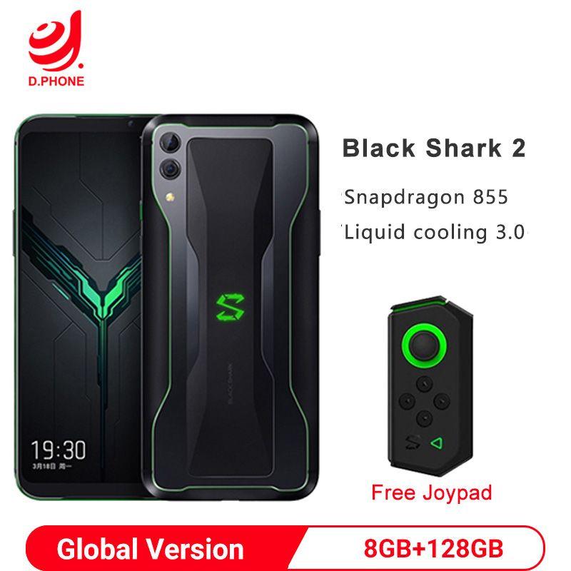 Ursprüngliche Globale Version Xiaomi Schwarz Shark 2 8GB 128GB Gaming Smartphone Snapdragon 855 6,39
