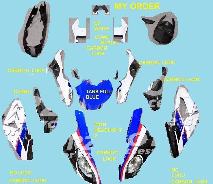 Neue ABS Motorrad verkleidung kit Für S1000RR 2015-2018 Karosserie Carbon faser muster Wasser transfer druck ACEKITS Shop No. 9999