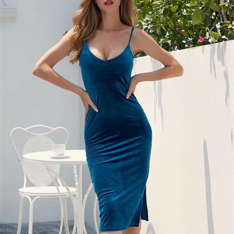 SESOAF femmes Sexy robe en velours de haute qualité Slim col en v robes moulante marque Designer vêtements bref Style robe Bandage robe
