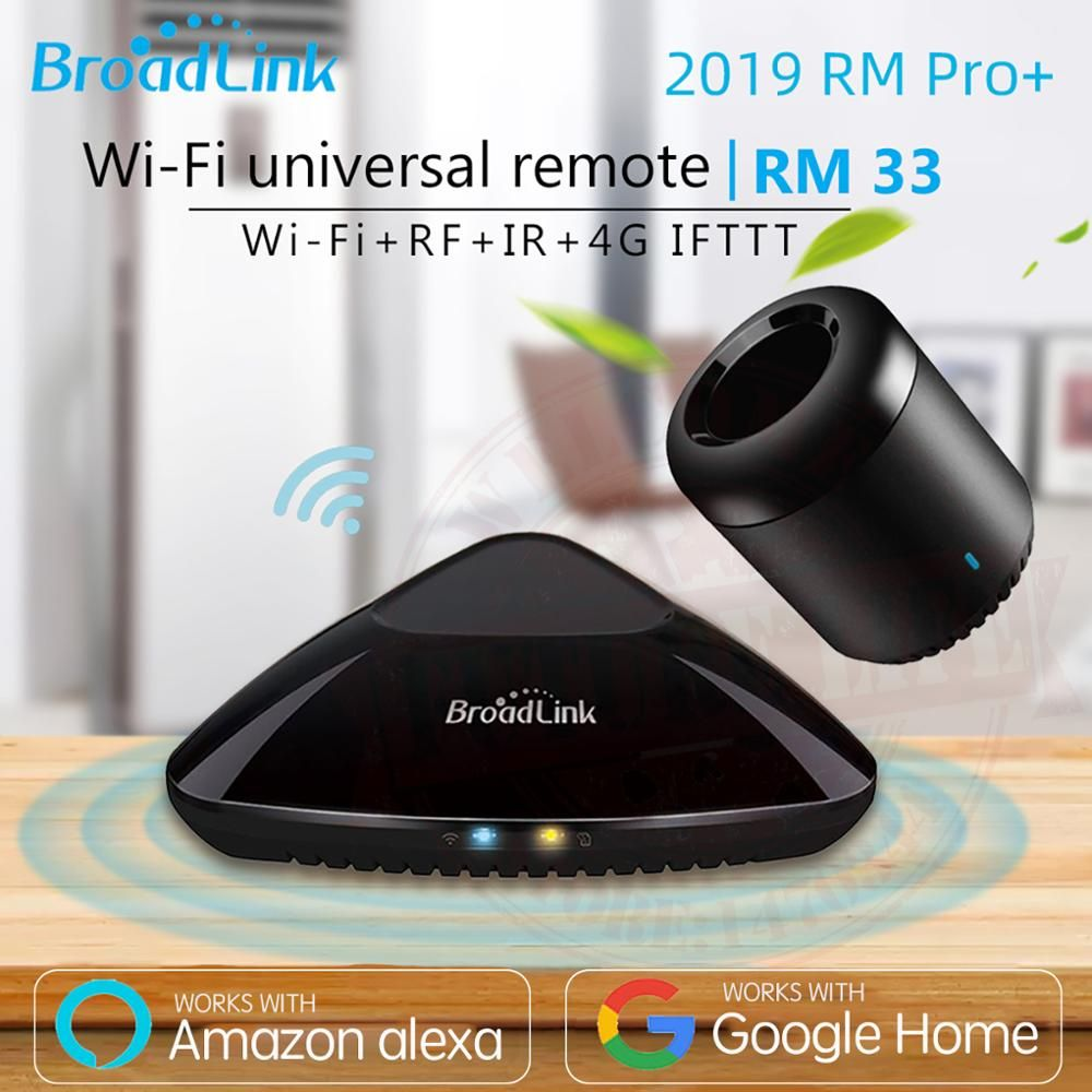 2019 Broadlink RM33 RM Pro +/RM mini3 domotique intelligente télécommande universelle intelligente WIFI + IR + RF Switch