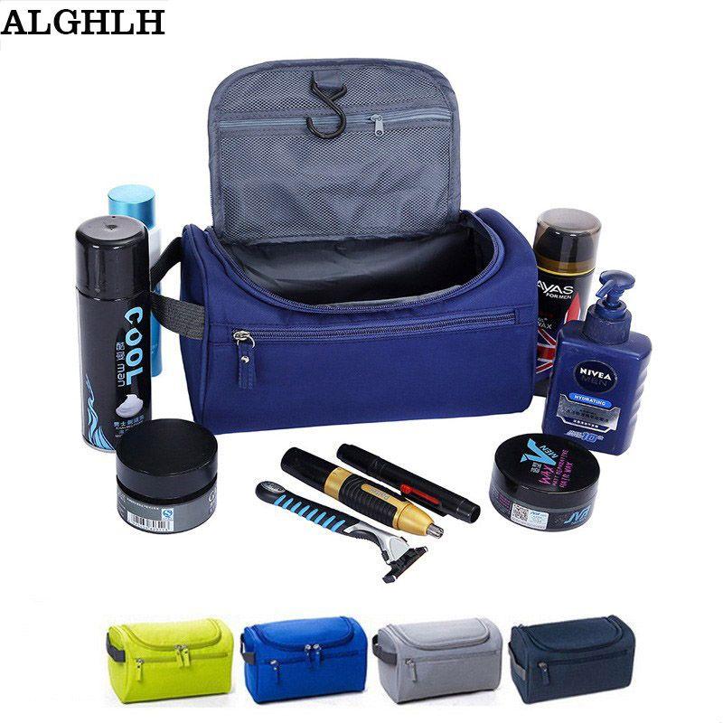 ALGHLH Wome unisexe bleu impression pendaison de toilette clair voyage sac de rangement cosmétique transporter organisateur de toilette pour voyager salle de bain