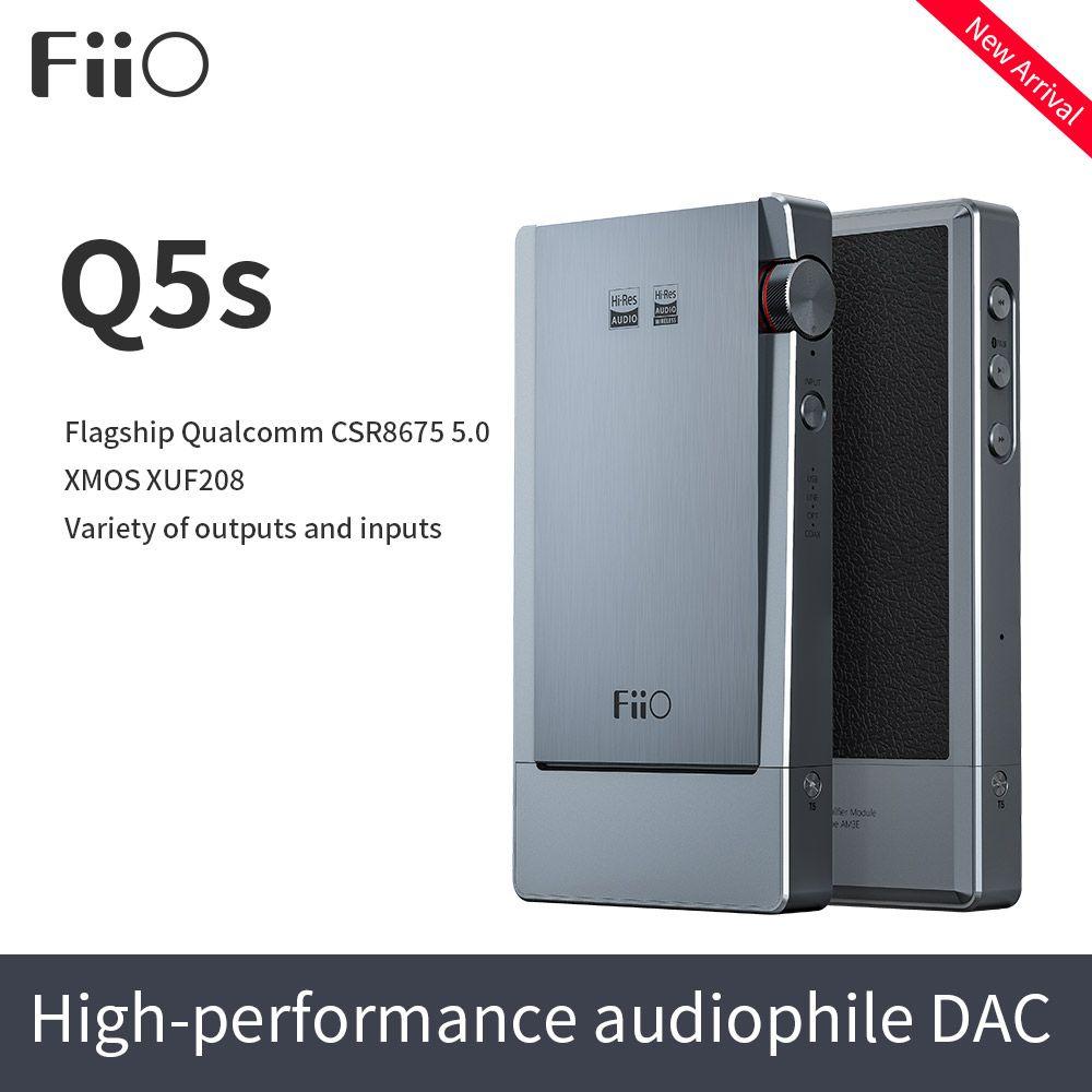 FiiO Q5s Bluetooth 5,0 AK4493EQ DSD-Lage DAC & Verstärker, USB DAC Verstärker für iPhone/computer/Android/Sony 2,5mm 3,5mm 4,4mm