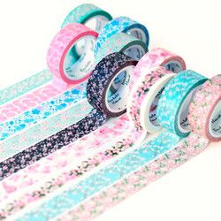 15 Warna Romantis Sakura Washi Tape DIY Dekoratif Scrapbooking Masking Tape Perekat Label Stiker Tape Alat Tulis 15 Mm * 7M