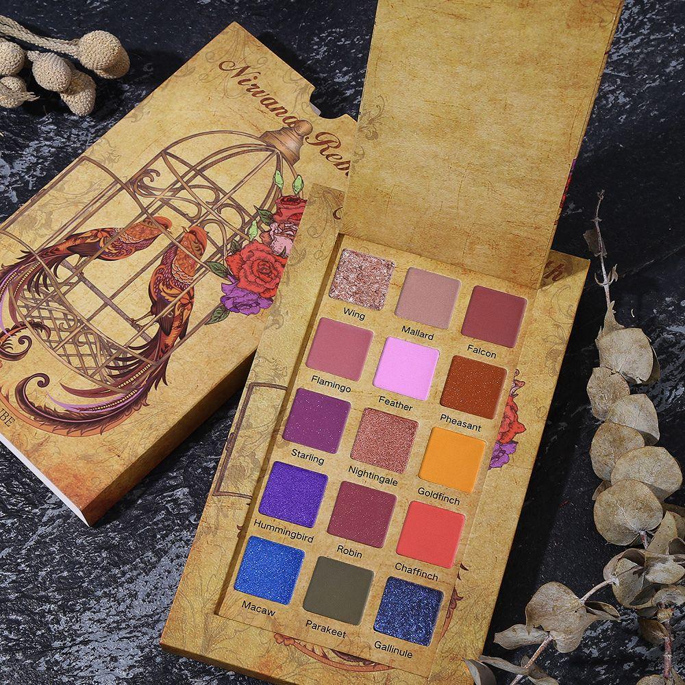 UCANBE Cageling 15 couleurs miroitant mat fard à paupières palette paillettes poudre fard à paupières maquillage crème pigmentée imperméable cosmétiques