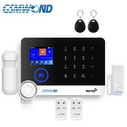 Wireless Home Burglar Wifi GSM GPRS Alarm System English Russian Spanish German Polish Italian French RFID Card Android IOS APP