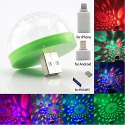 Mini Disco Lights LED Portable USB Stage Party Decoration DC 5V USB Magic Ball For Home Karaoke Colorful Effect DJ Lighting