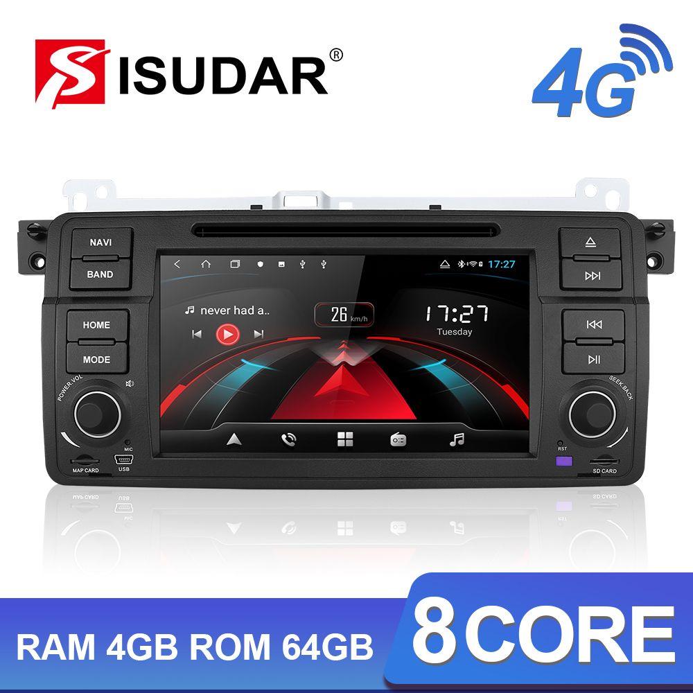 Isudar H53 4G Android 1 Din Auto Radio Für BMW/E46/M3/Rover/3 Serie Auto multimedia DVD GPS 8 Core RAM 4G ROM 64G DVR Kamera FM