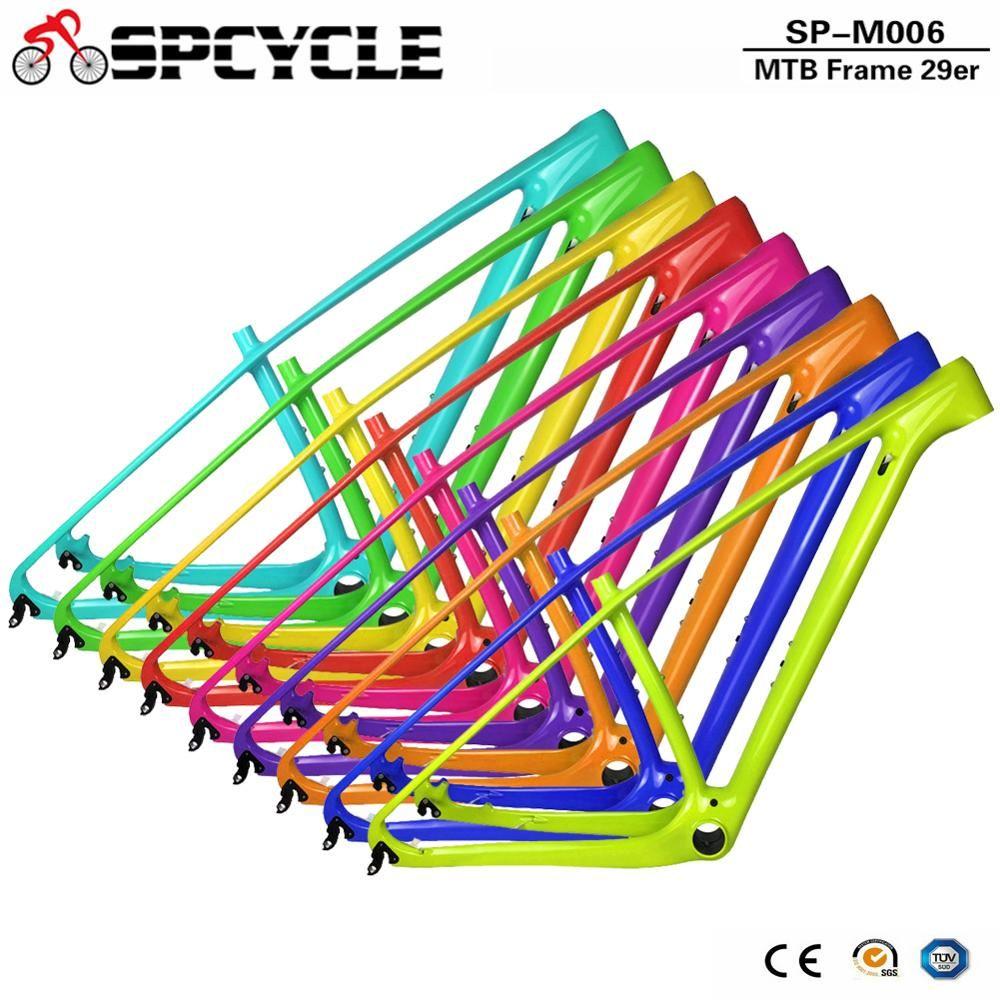 Spcycle 2019 Full Carbon MTB Fahrrad Rahmen 29er 27.5er MTB Mountainbike Carbon Rahmen 15 17 19 21 Steckachse 142*12mm