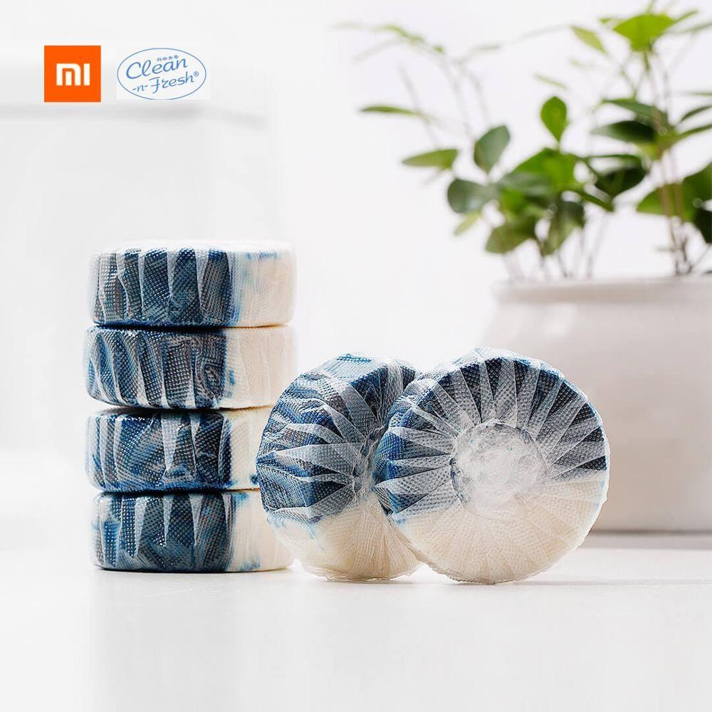 Xiaomi Mijia Clean-n-fresh bloc de toilette à Double effet emballage de Film hydrosoluble indépendant facteur actif anionique nettoyage en profondeur