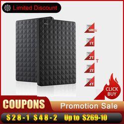 Big Discount Seagate Expansion HDD Drive Disk 4TB/2TB/1TB/ USB 3.0 2.5