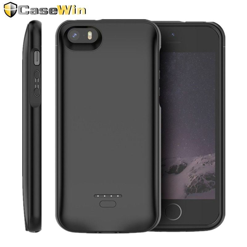 CASEWIN chargeur de batterie étui pour iphone SE 5SE 5 5S couverture 4000mAh chargeur de batterie étui pour iphone 5 6 7 8X11