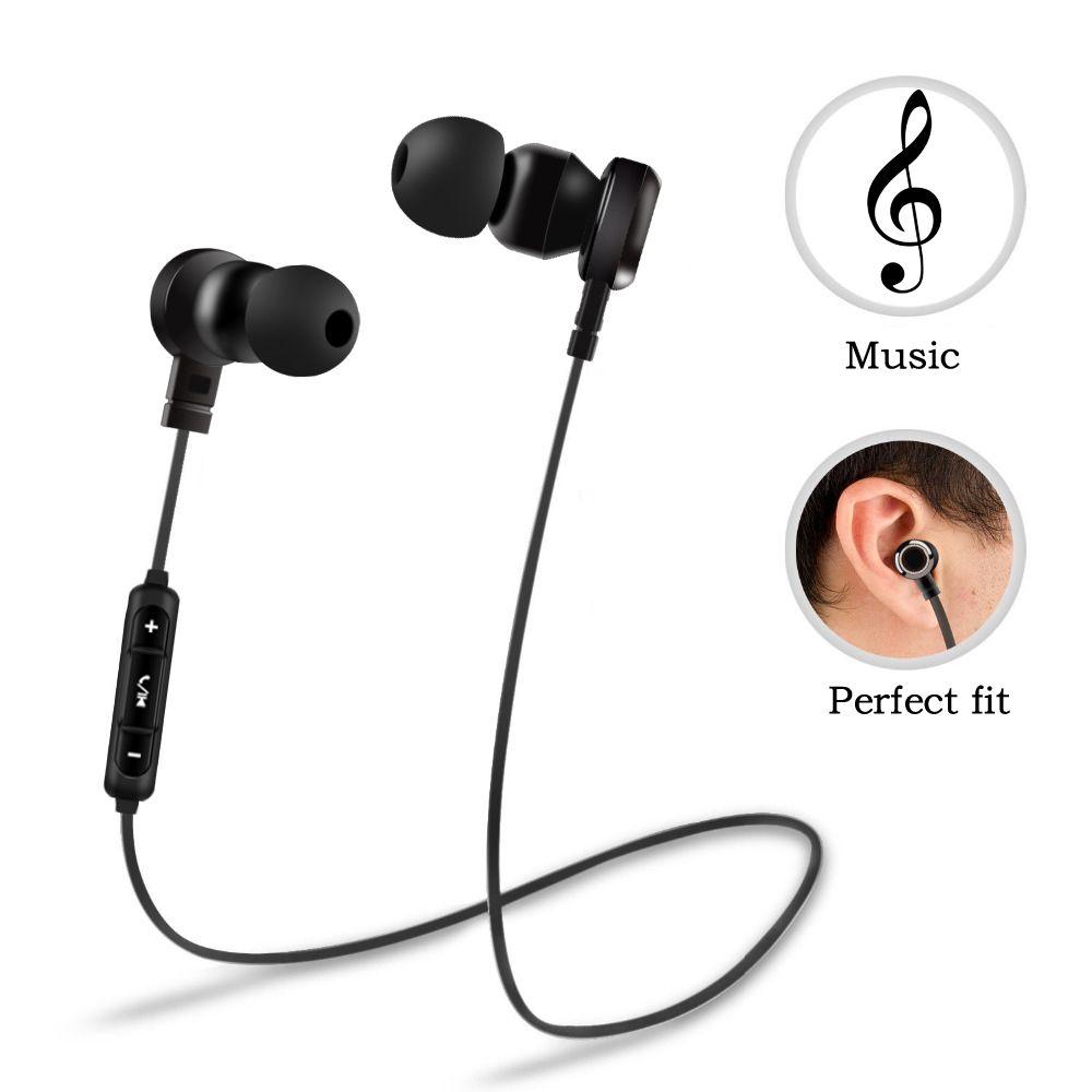 Simvict B5 casque bluetooth sans fil bande de cou casque Sport écouteur avec micro suppression de bruit écouteurs pour téléphone