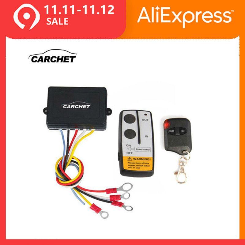 CARCHET 12 V-24 V 50ft treuil intelligent sans fil télécommande ensemble de commutateur E universel indicateur lumineux pour Jeep camion ATV PROMOTION2019