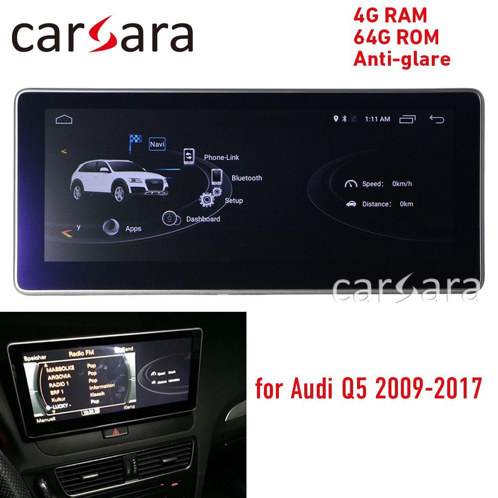 4G RAM blau ray Android display für Audi Q5 2009-2016 10,25