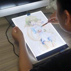 Tiga Tingkat Peredupan A4 LED Menulis Lukisan Kotak Cahaya Tracing Papan Copy Bantalan Menggambar Tablet Seni Kerajinan A4 Copy Meja papan LED