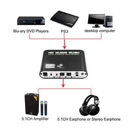 5.1 Channel Digital Audio Decoder Converter HD Rush Audio Gear Surround Sound Decoder for Home Theater