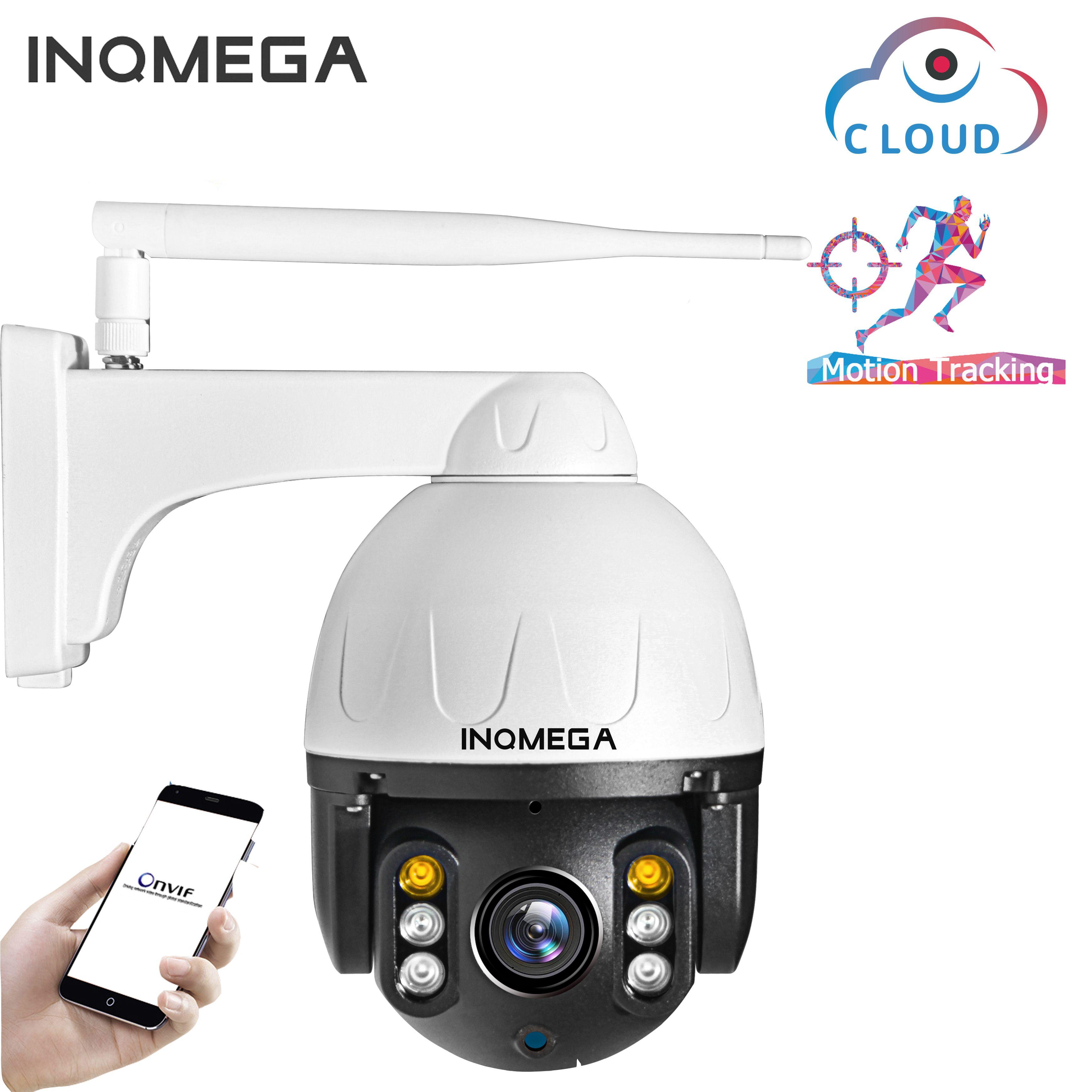 INQMEGA Cloud 1080P caméra IP PTZ extérieure WIFI vitesse dôme caméra de suivi automatique 4X Zoom numérique 2MP Onvif IR caméra de sécurité CCTV