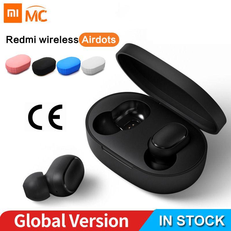 Xiaomi Redmi AirDots écouteur Bluetooth casque 5.0 TWS véritable stéréo sans fil SBC mignon Mini lumière écouteurs boîte de chargement automatique