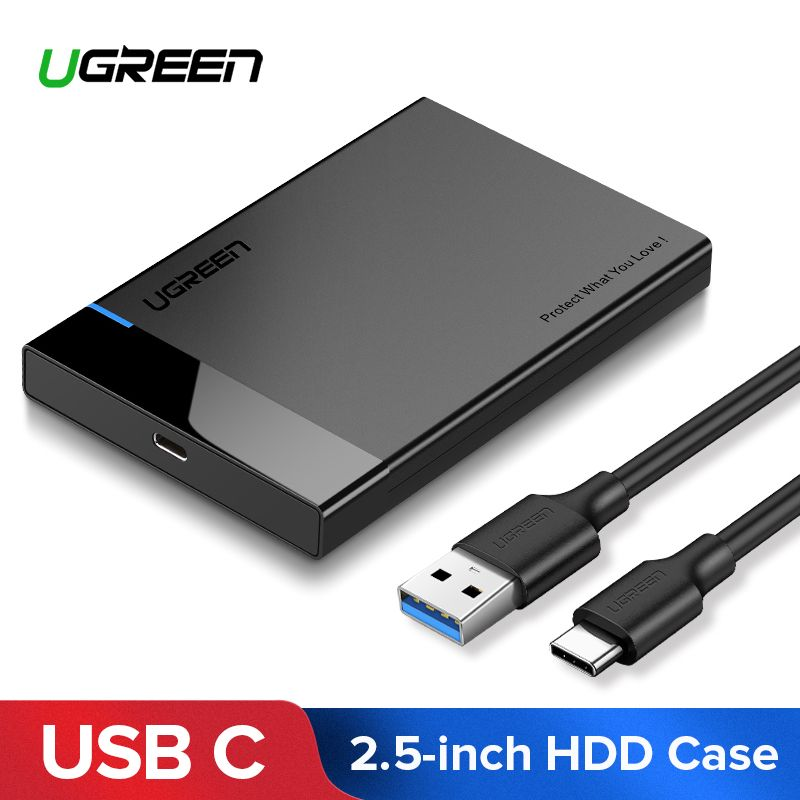 Ugreen HDD Case 2.5 SATA to USB 3.0 Adapter Hard Drive Enclosure for SSD Disk HDD Box USB 3.1 Gen 2 Type C Case HD External HDD Enclosure For External Hard Drive