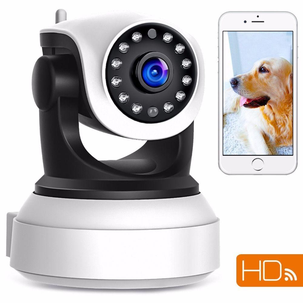 Caméra IP de sécurité Wi-Fi sans fil 1080p caméra de Surveillance réseau IP panoramique à inclinaison panoramique HD Vision nocturne de jour, moniteur bébé, APP CamHi