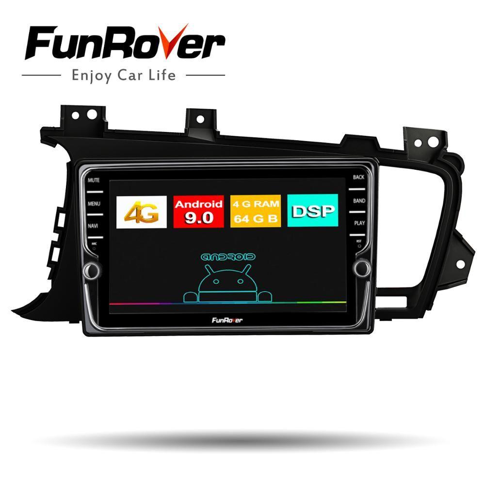 Funrover Octa Core auto radio dvd Multimedia Android 9.0 Für Kia K5 Optima 2011-2015 2din auto gps navigation DSP stereo kopf einheit