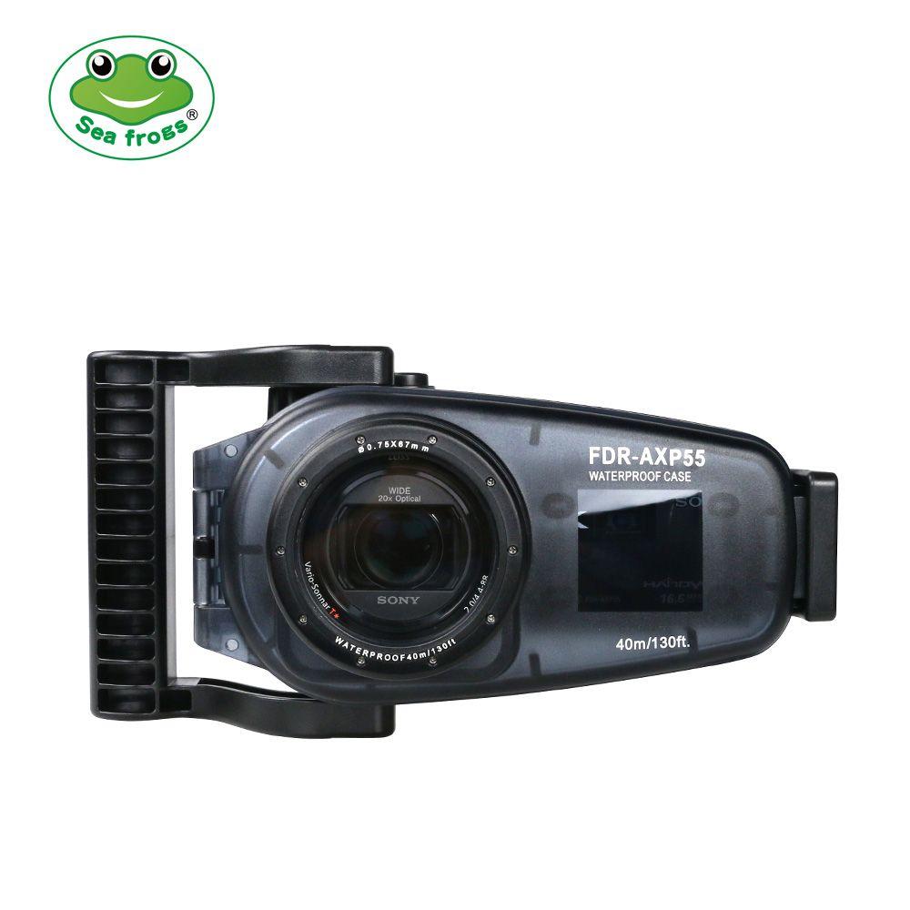 Seafrogs Für Sony FDR AX30 40 55 Video Kamera Gehäuse Unterwasser 40m Tauchen Fotografie Wasserdichte Fall Run Camcorder Funktion