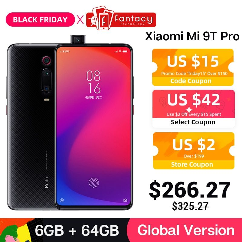In Lager Globale Version Xiao mi mi 9T Pro 6GB 64GB (Rot mi K20 Pro) snapdragon 855 Smartphone 6,39