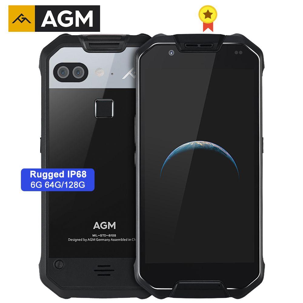 AGM X2 Robuste IP68 MIL-STD-810G Wasserdichte Telefon 6000mAh Quick Charge 6G + 64G/128GB Handy 5,5