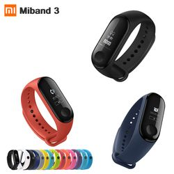 Asli Xiao Mi Mi Band 3 Monitor Detak Jantung Bluetooth 4.2 Xao Mi Smart Sport Gelang OLED Mi Band 3 smartband