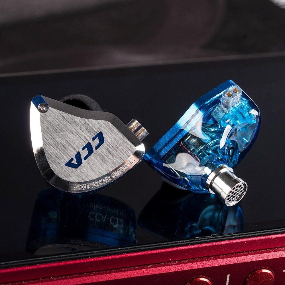 2019 CCA C12 5BA + 1DD Hybrid In Ohr Kopfhörer 12 Treiber Einheit HIFI DJ Monitor Kopfhörer Ohrhörer KZ ZSX AS10 ZST CCA C10 C16