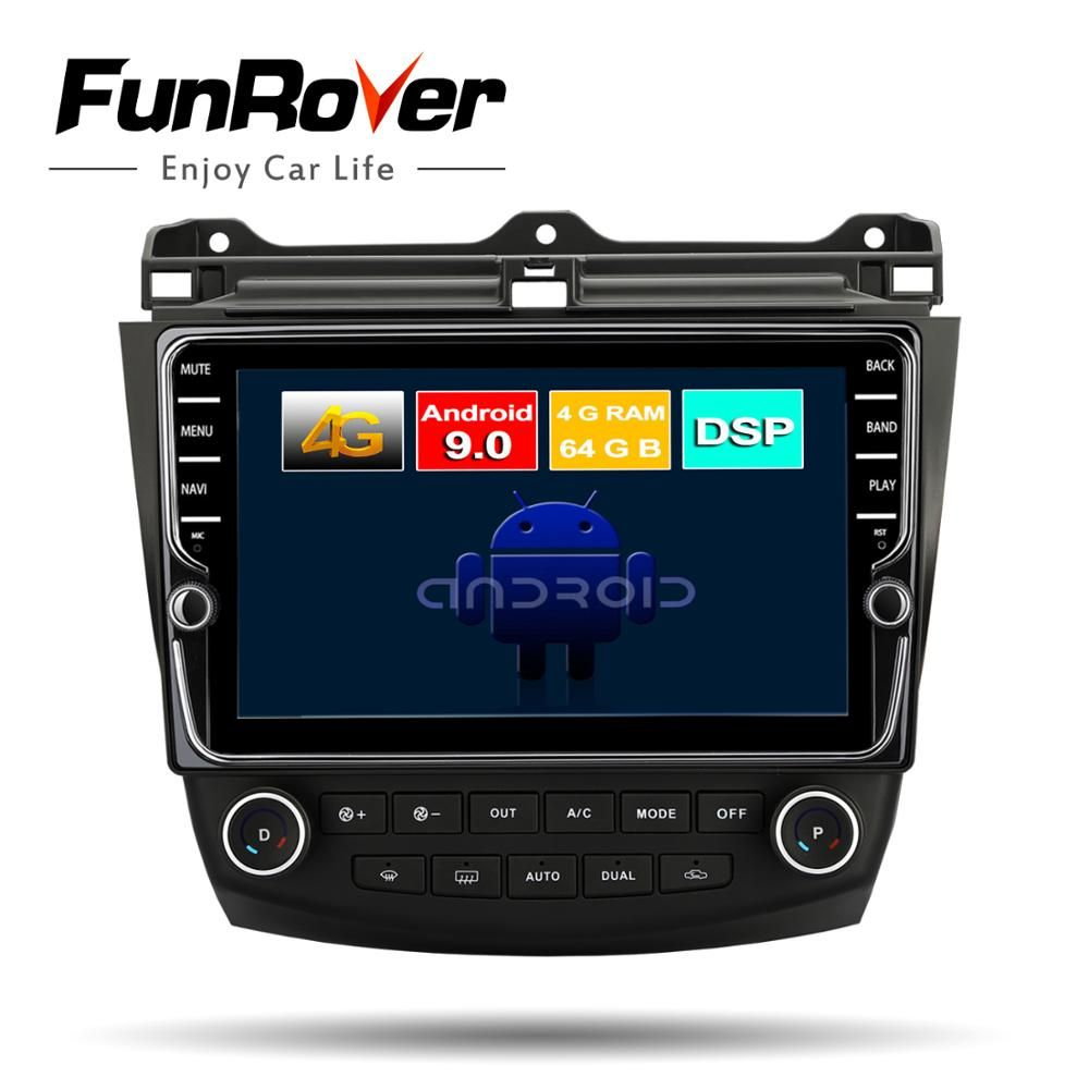 FUNROVER Octa 8 Core android 9.0 auto dvd multimediaplayer für Honda Accord 7 2003-2007 radio gps navigation stereo DSP steuergerät