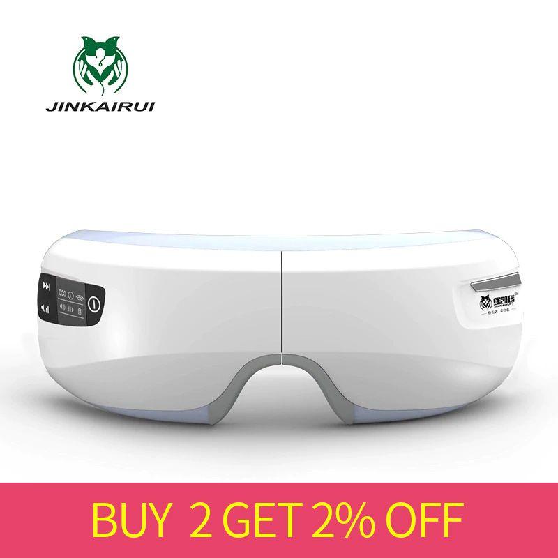 Masseur oculaire à pression d'air électrique Rechargeable avec fonctions Mp3 Vibration sans fil magnétique infrarouge lointain chauffage Usb lunettes
