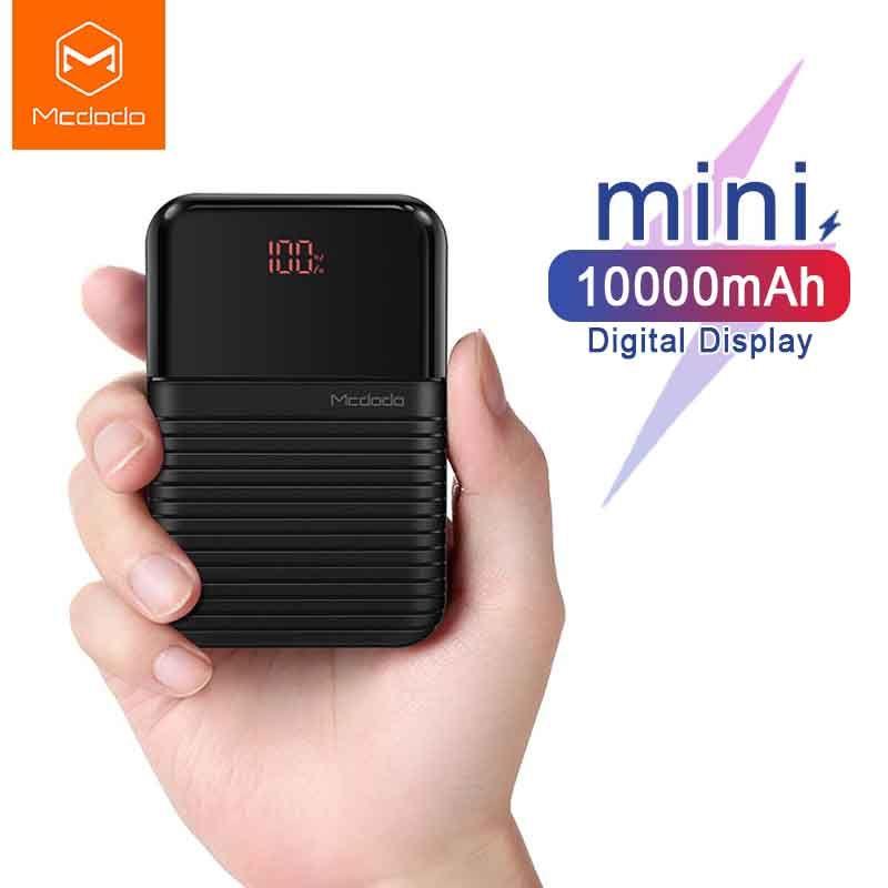 Mcdodo mini batterie externe 10000mAh pour Xiaomi Pover banque Portable chargeur de batterie de téléphone externe pour IPhone X Huawei P20 appauvrbank