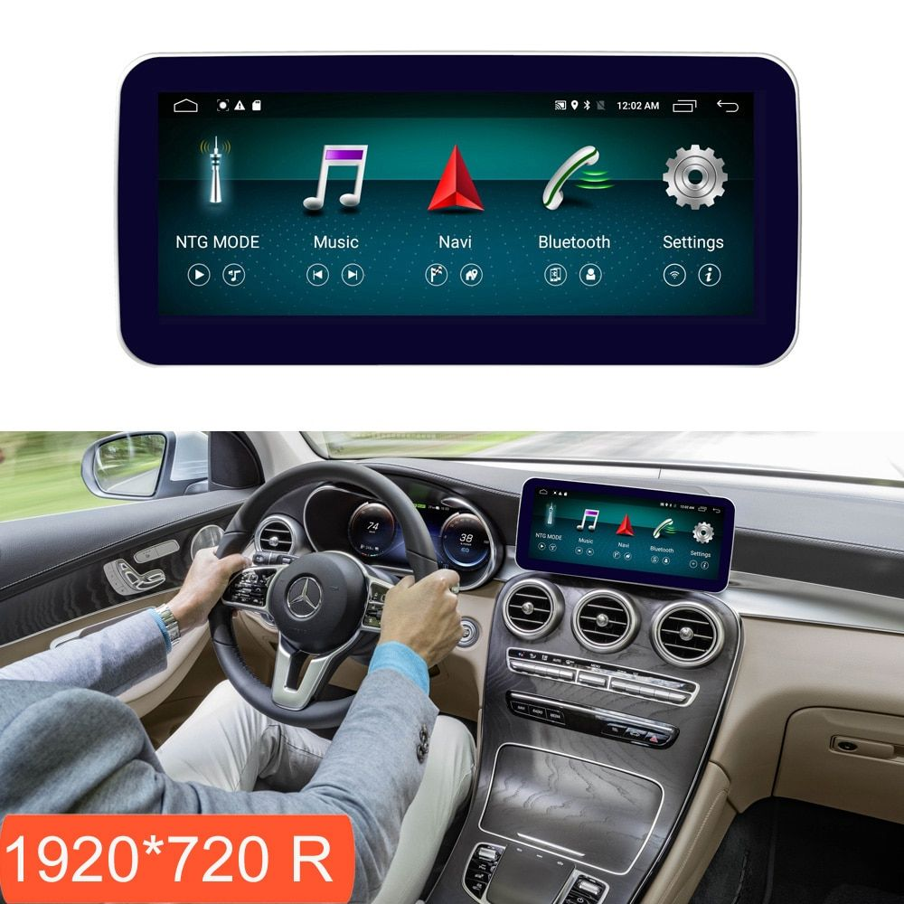10,25 zoll 4 + 64G Android Display für Mercedes Benz GLC C Klasse W205 2015-2018 Auto Radio bildschirm mit GPS-Navigation Bluetooth