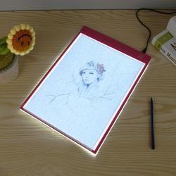 Lampu LED Kotak A4 Menggambar Tablet Grafis Menulis Digital Tracer Copy Pad Papan untuk Diamond Lukisan Sketsa Hotfix Berlian Imitasi