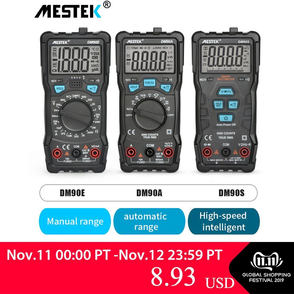 MESTEK Digital Multimeter 6000 Counts High Speed Auto Range Tester Intelligent NCV True RMS Temperature Universal Multimetro