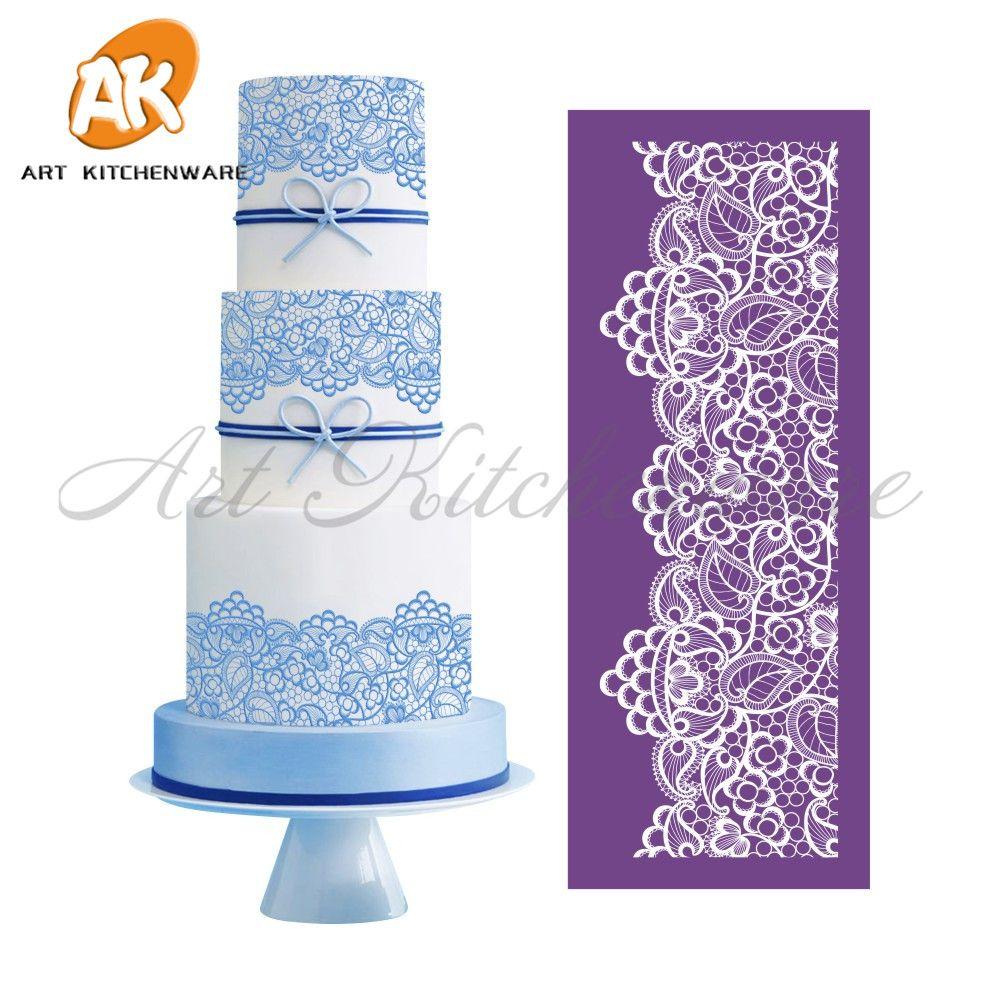 Nouveau Berry maille pochoir dentelle gâteau pochoir modèle dentelle Mat bricolage gâteau décoration outils gâteau pochoirs pour gâteau Fondant moules MST-05