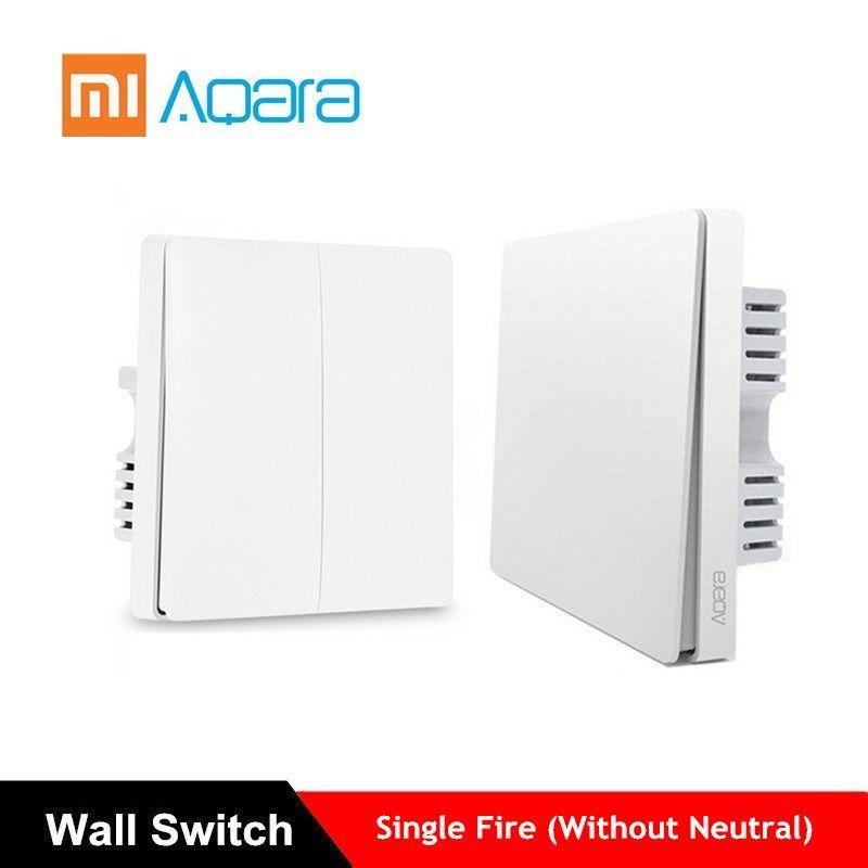 Aqara Wall Switch Light Switch ZigBee Version Single Fire APP Control Remote Smart Home Kit