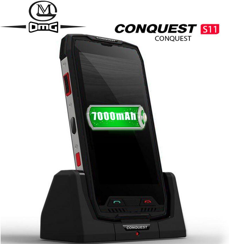 Eroberung S11 7000mAh IP68 Wasserdicht Stoßfest 4G Smartphone 4GB + 64GB 128GB NFC OTG zelle handys Android 7.0 Robuste Handy