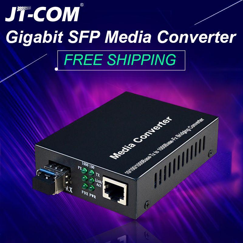 1 paar = 2 stücke Gigabit SFP Fiber zu RJ45 Optischen Medien Konverter 1000Mbps Fibra Optica Schalter Transceiver mit modul SC/LC